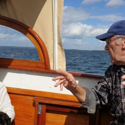 on the boat of Dan Uddenfeldt in Sweden